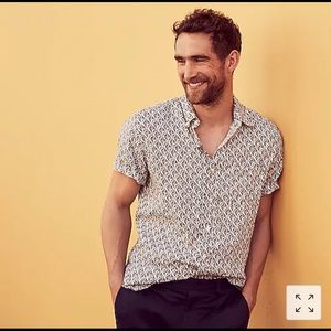 J. CREW Men's Linen Shirt in Floral Print